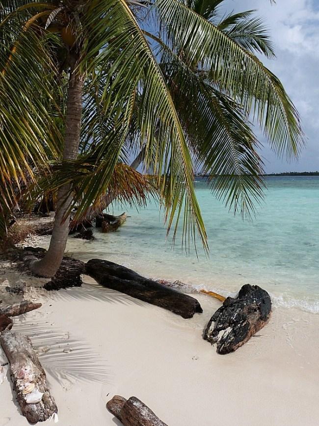 Deserted island beach in the San Blas Islands, Panama