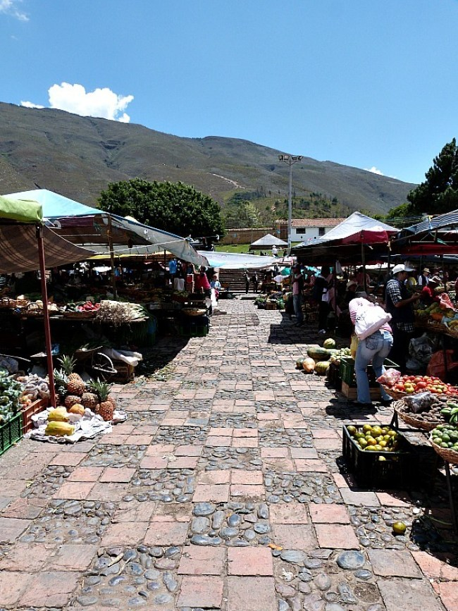 Local market in Villa de Leyva, Colombia