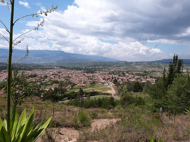 View over Villa de Leyva, Colombia