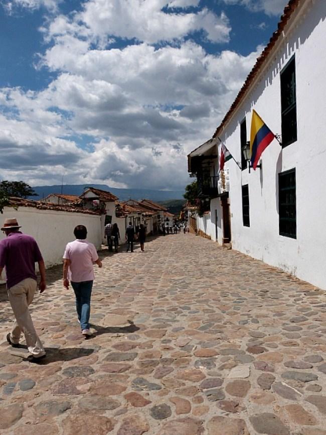 Street in Villa de Leyva, Colombia
