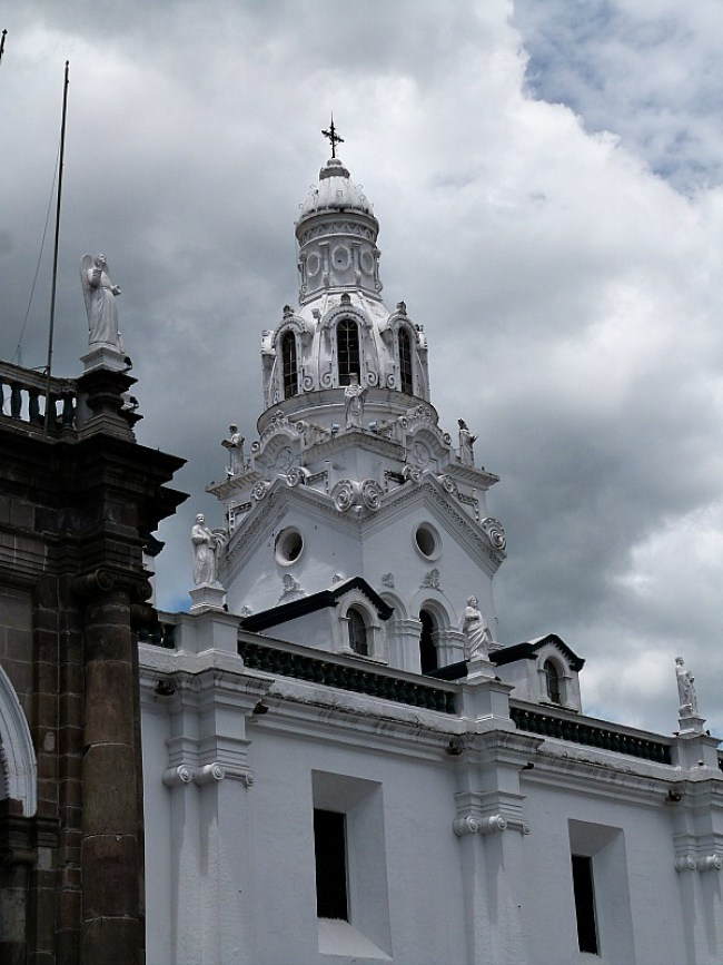 Church in Old Town in Quito, Ecuador
