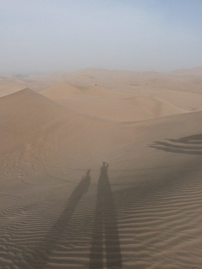 Desert around Huacachina in Peru