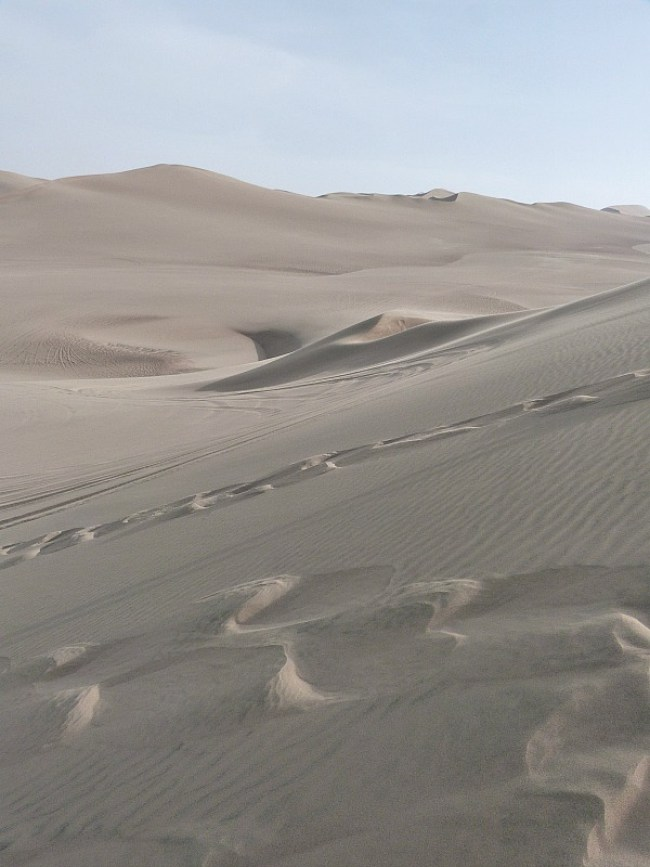 Desert around Huacachina in Peru