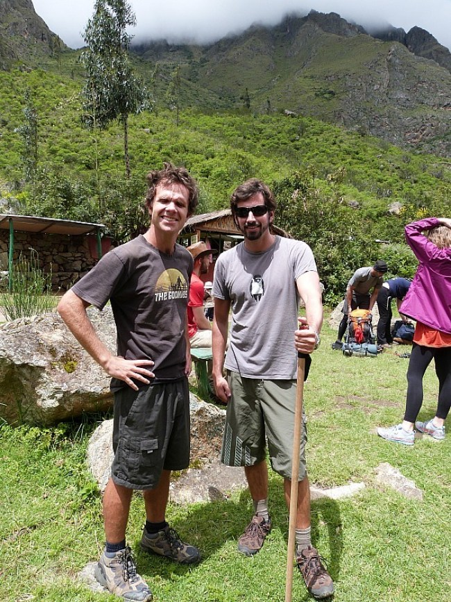 Hiking on the first day of the world famous Inca Trail in Peru