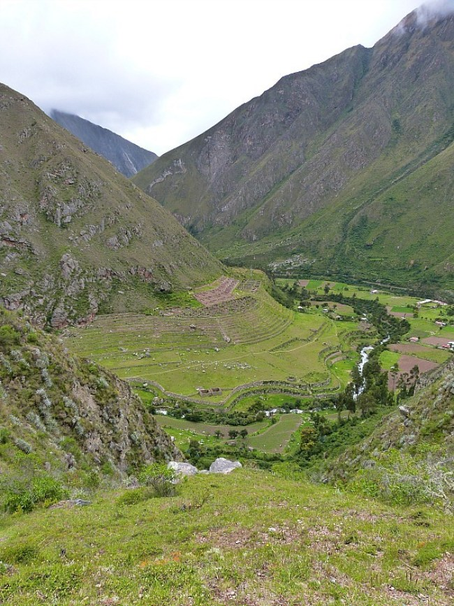 Valley Views on Day Two of the Inca Trail in Peru