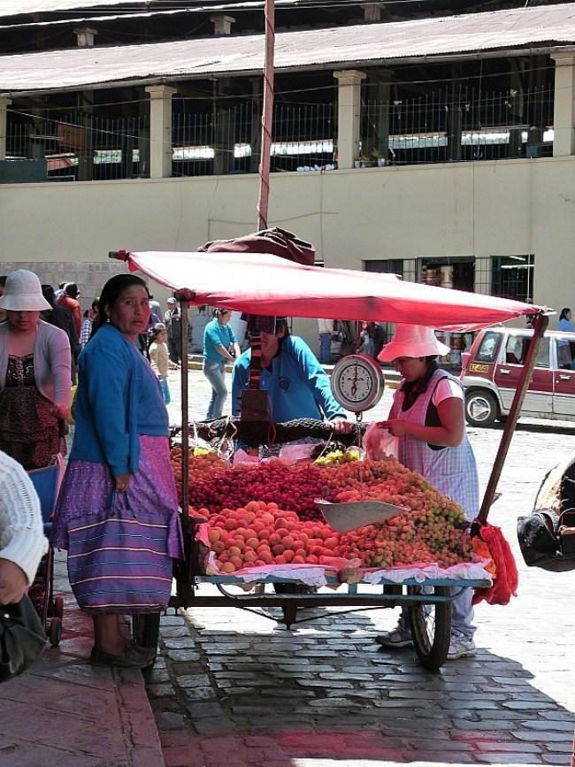 Local market in Cusco, Peru