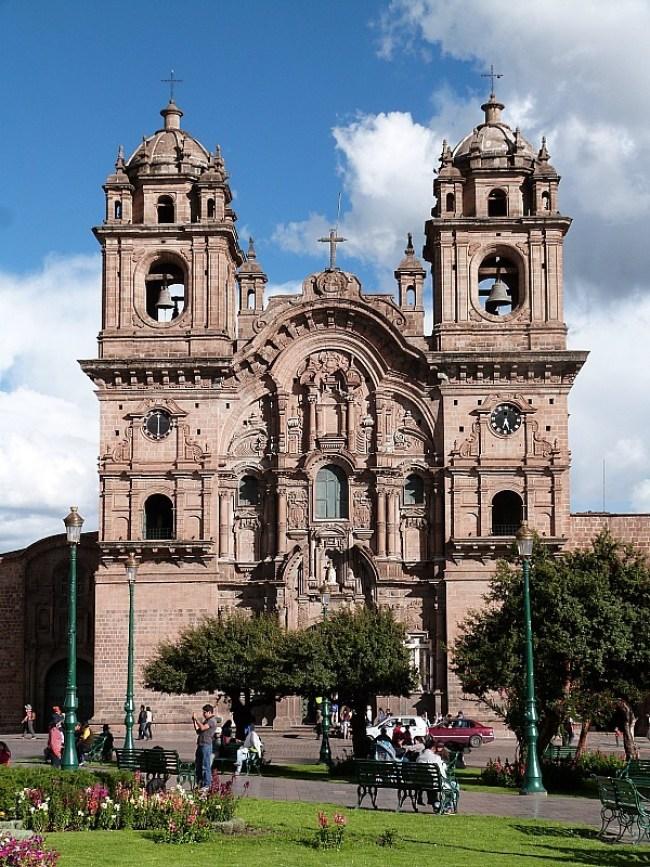 Church in main square of Cusco, Peru