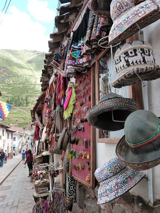 Local market in Pisac in the Sacred Valley of Peru