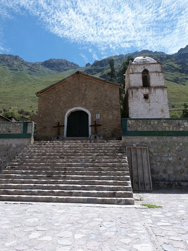 Small church in the Colca Canyon, Peru
