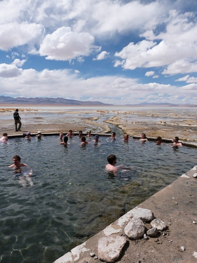 Natural hot springs in south west Bolivia
