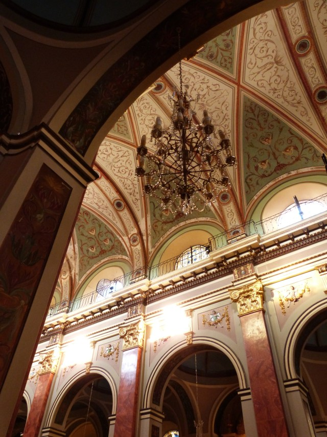Inside the pink cathedral in Salta, Northern Argentina
