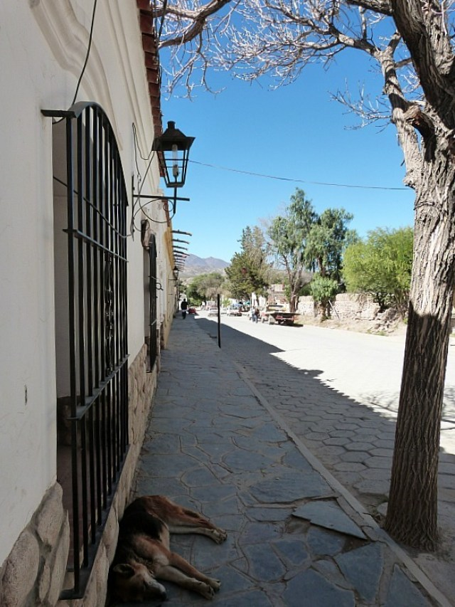Quiet side street in Cachi, Northern Argentina