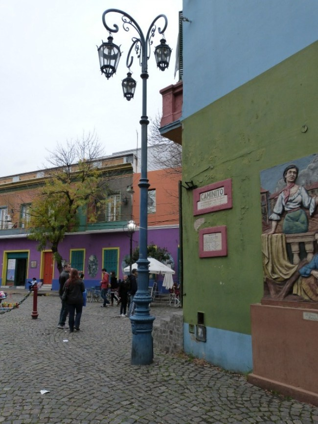 Colorful buildings in La Boca, Buenos Aires