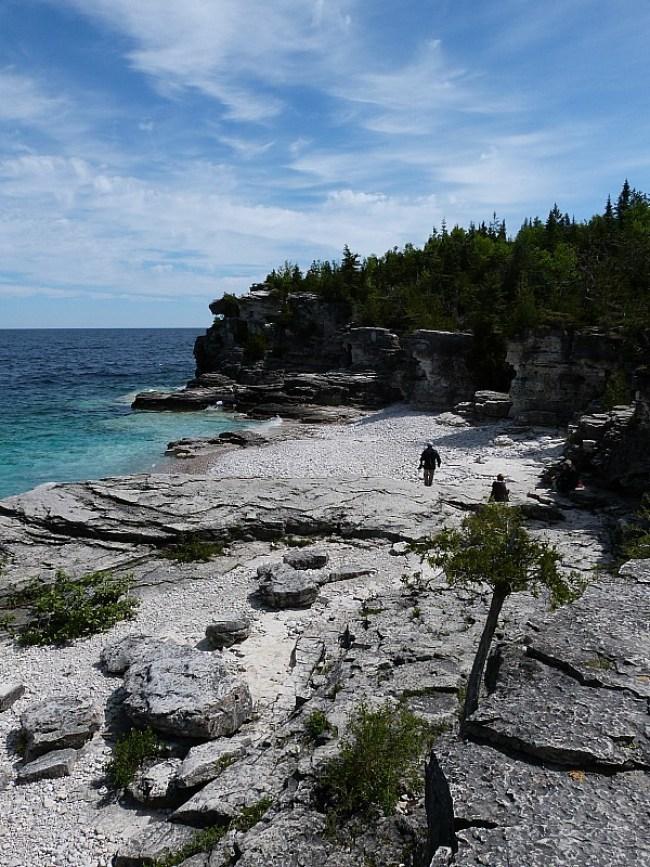Beach at Bruce Peninsula National Park in Ontario