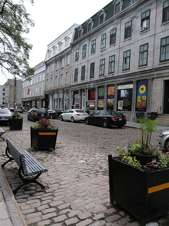 Cobbled streets in Old Town Montreal, Quebec