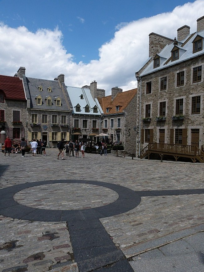 Historic Square in Old Town Quebec City