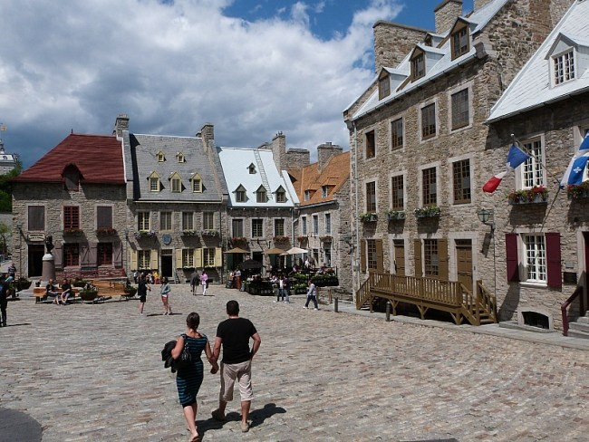 Square in Lower Old Town, Quebec City