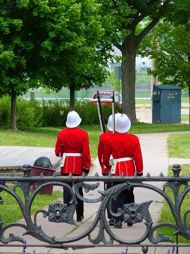 Guardsmen in Fredericton, New Brunswick