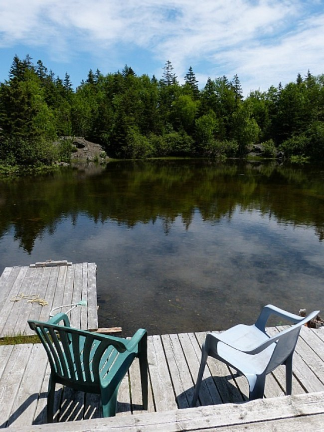 Pond at the Hole in the Wall Campground on Grand Manan Island