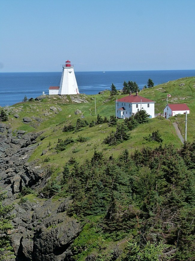 Swallowtail Lighthouse on Grand Manan Island, New Brunswick