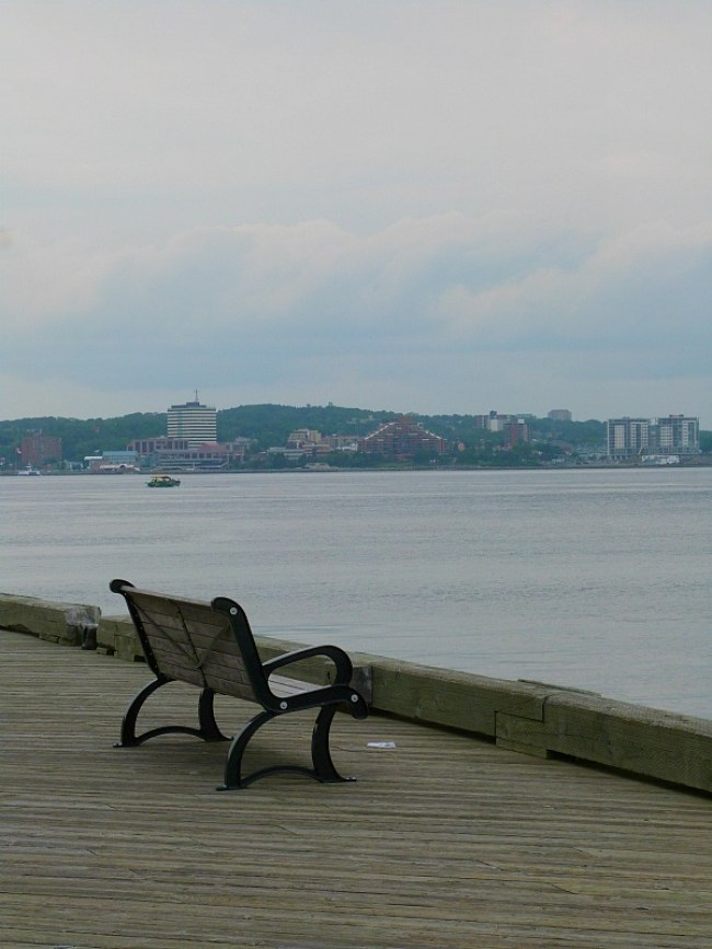 Walking path by Halifax Harbour, Nova Scotia