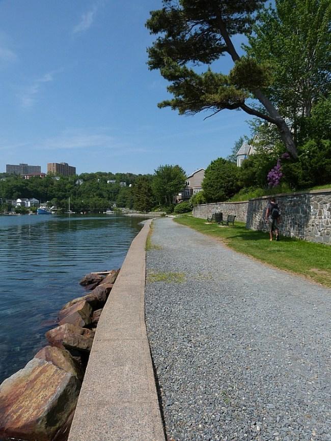 Walking trail around Northwest Arm in Halifax, Nova Scotia
