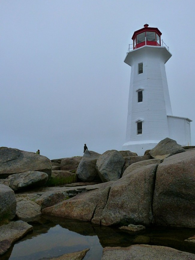 The famous Peggy's Cove Lighthouse in Nova Scotia