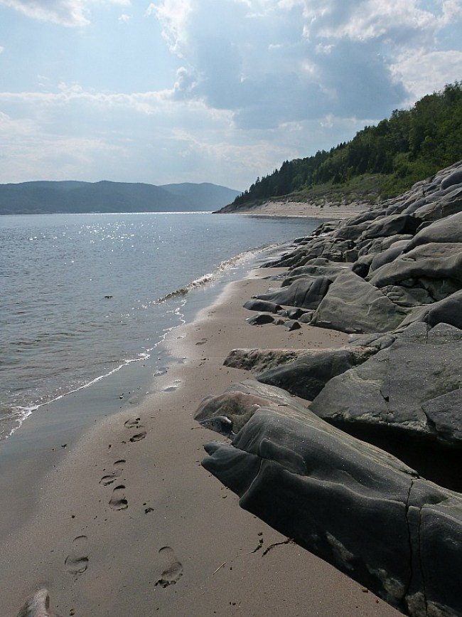 Coast in Tadoussac, Quebec