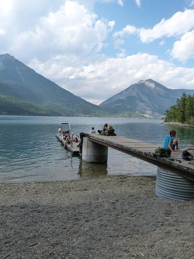Upper Waterton Lake in Waterton Lakes National Park, Canada