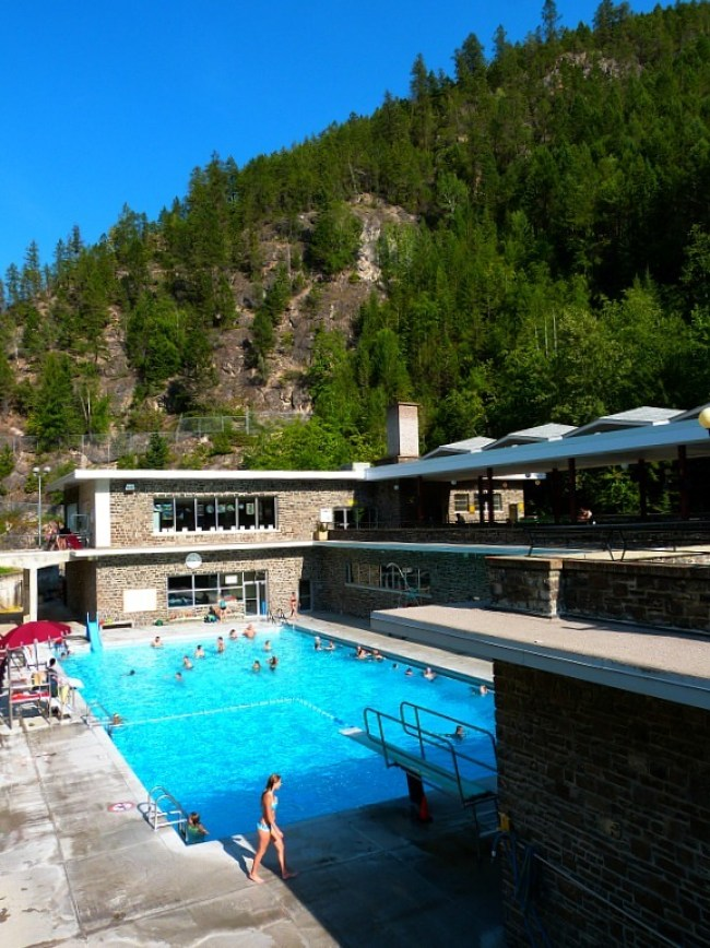 Radium Hot Springs in British Columbia - a Rocky Mountain Road Trip must