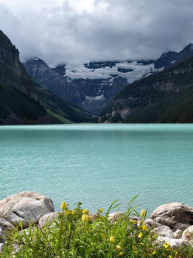 Lake Louise in Banff National Park, Canada - a Rocky Mountain Road Trip must