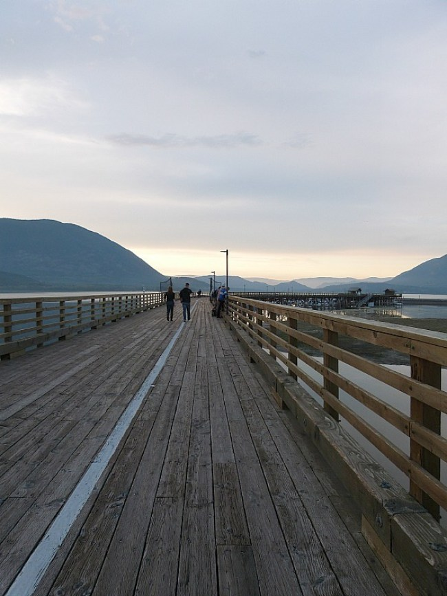Salmon Arm in the Shuswap Lake Region of British Columbia, Canada