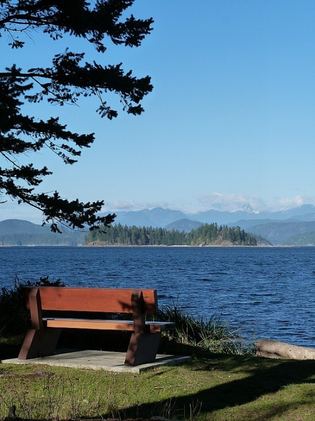 View from Rebecca Spit on Quadra Island, Canada