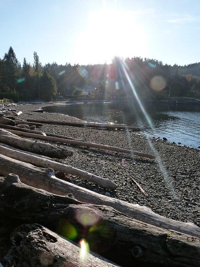 The quiet coastlines of Quadra Island in British Columbia, Canada