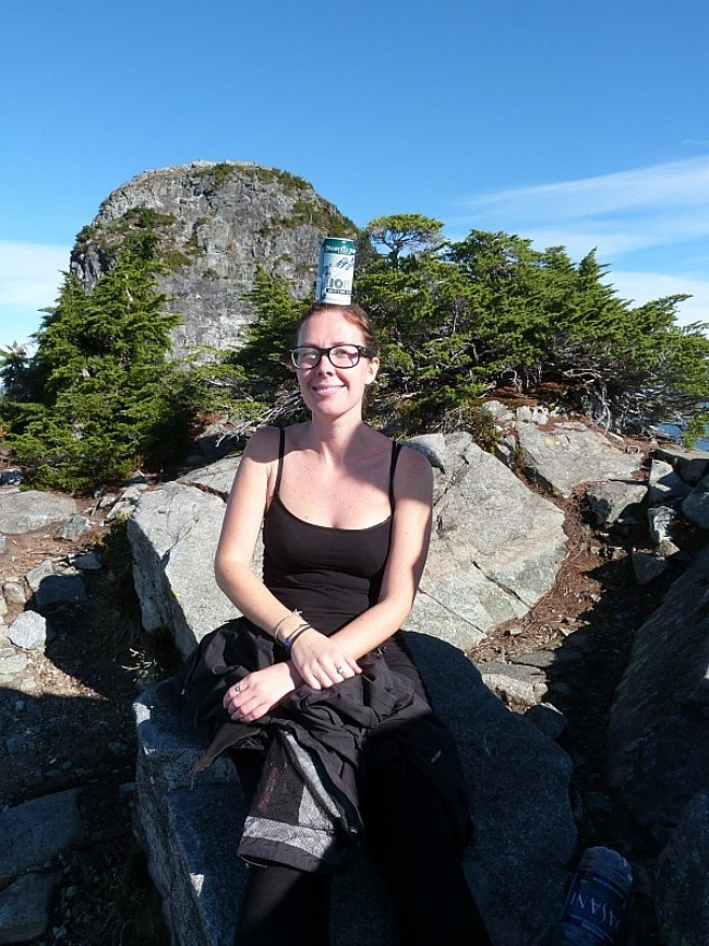 At the summit of the Lions in the mountains near Vancouver, Canada