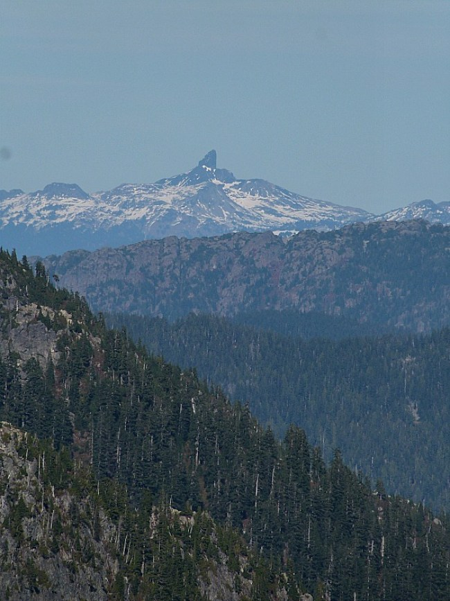 View of Black Tusk in the mountains near Vancouver, Canada