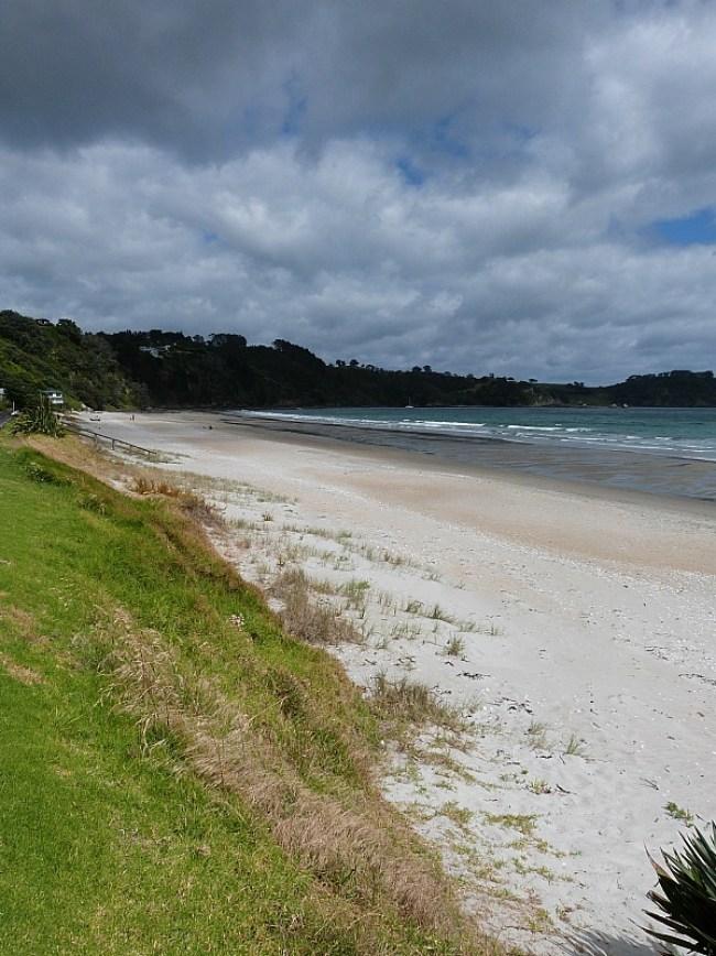 Onetangi Beach on Waiheke Island in Auckland, New Zealand