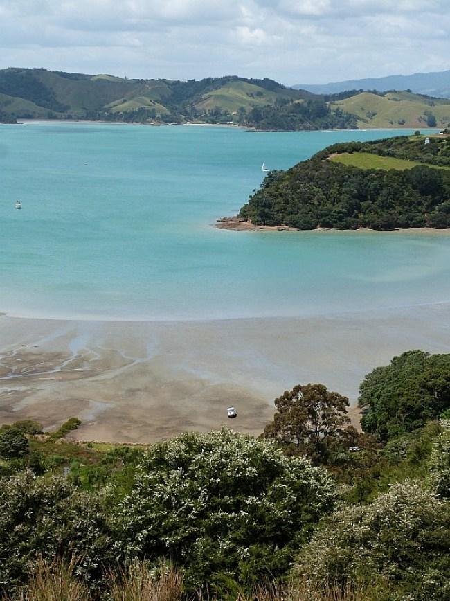 Incredible coastal views on Waiheke Island in New Zealand