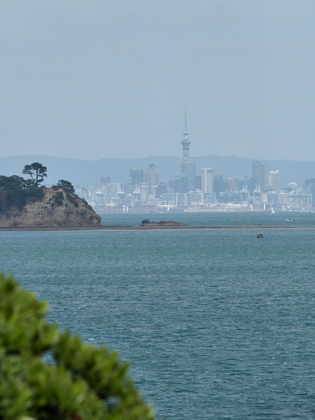 Views over to Auckland City from Waiheke Island in New Zealand