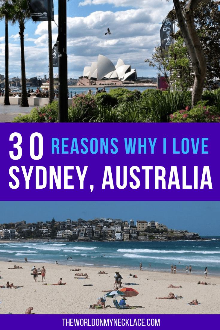 30 Reasons why I Love Sydney, Australia