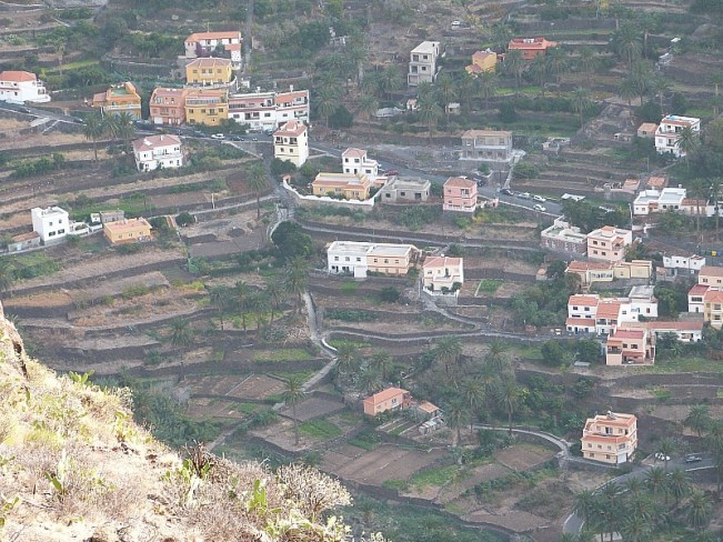 Terraced mountain village on La Gomera in the Canary Islands