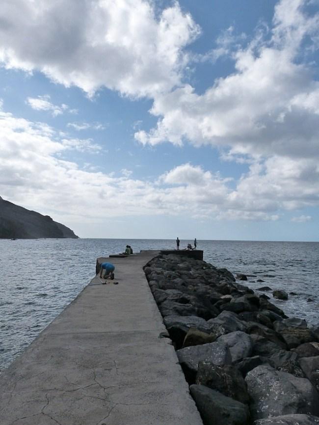 Pier on La Gomera in the Canary Islands