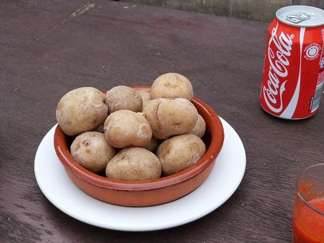 Local Dish of Papas Arrugadas on La Gomera in the Canary Islands