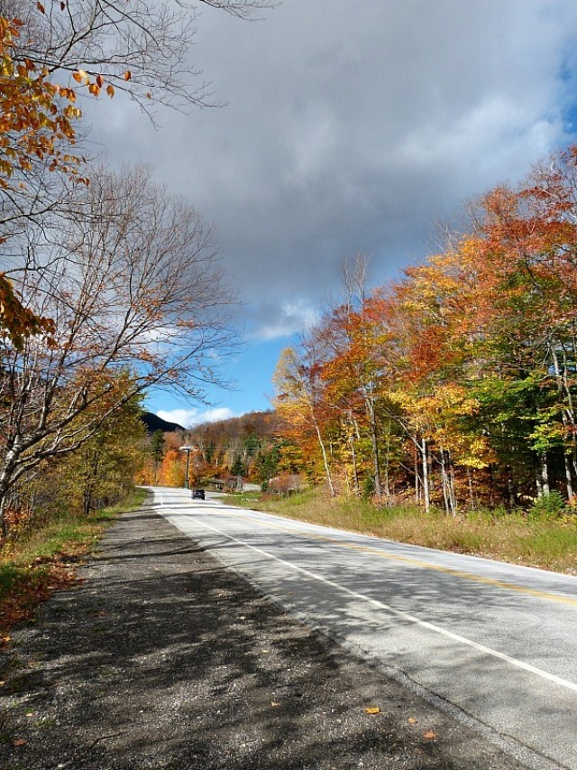 New England back roads in fall - one of the reasons to experience fall in north america