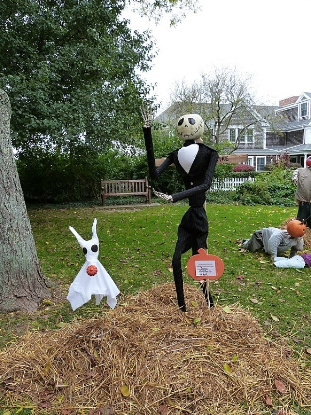 Scarecrow competition in Cape Cod - one of the reasons you should experience fall in North America