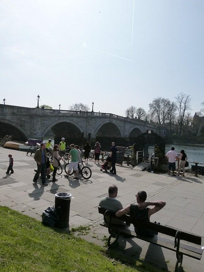 Historic Richmond Bridge in Richmond, Greater London