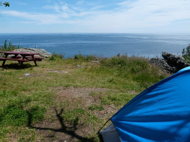 Our amazing camping site on Grand Manan Island during our epic Canada on a budget adventure