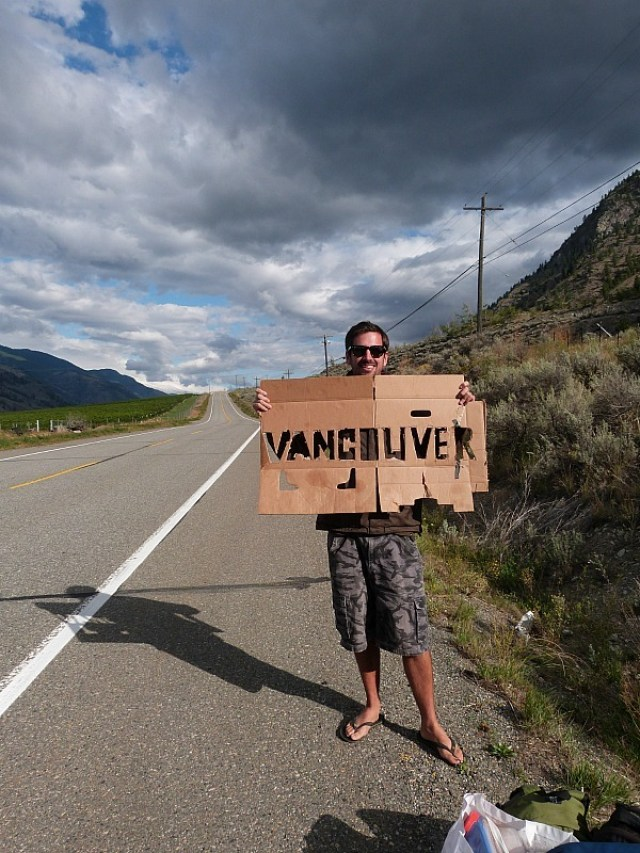 Vancouver or bust! Hitchhiking during our epic Canada on a Budget Adventure