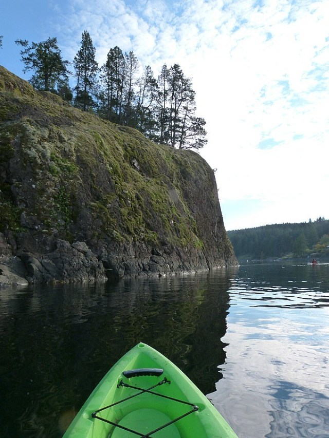 Quadra Island kayaking during our epic Canada on a Budget adventure