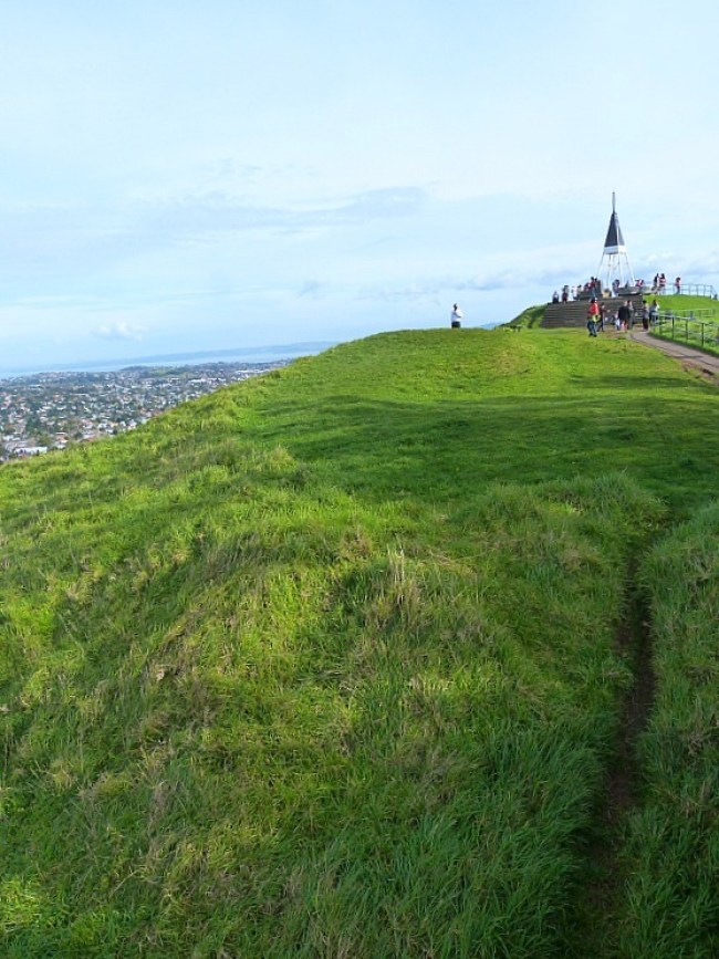 Climbing Mt Eden in Auckland on a visit back home to New Zealand